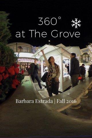 360° at The Grove Barbara Estrada   Fall 2016