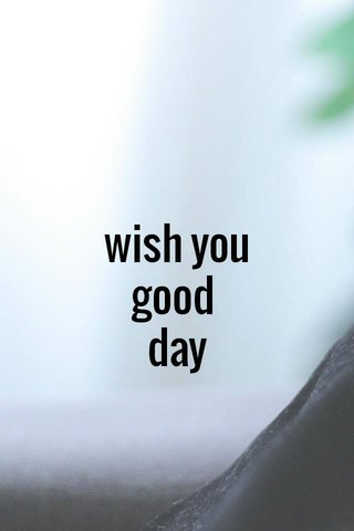 wish you good day