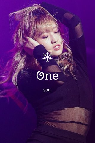 One you.