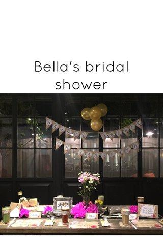 Bella's bridal shower