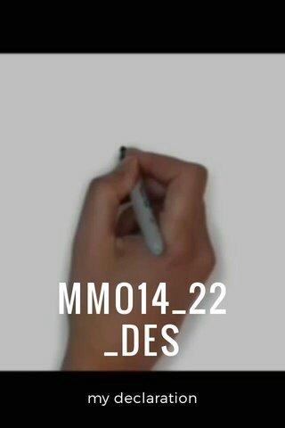 MMO14_22 _DES my declaration