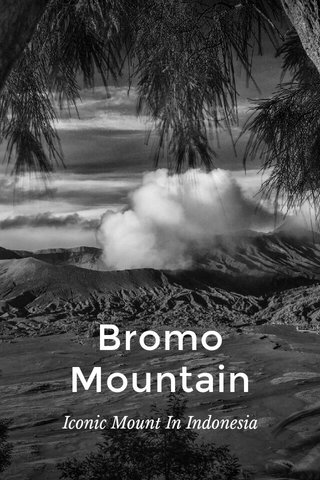 Bromo Mountain Iconic Mount In Indonesia