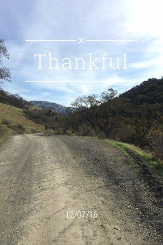 Thankful 12/07/16