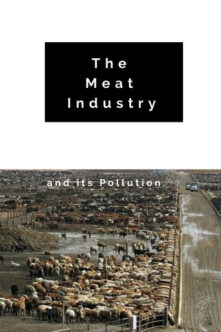 The Meat Industry and its Pollution