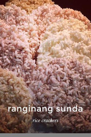 ranginang sunda rice crackers