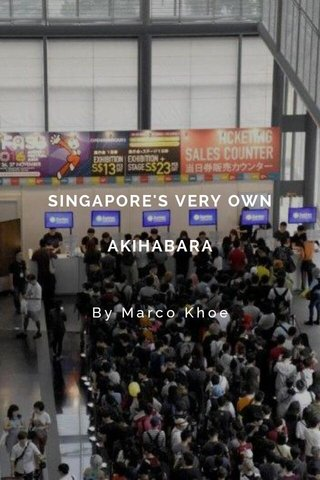 SINGAPORE'S VERY OWN AKIHABARA By Marco Khoe