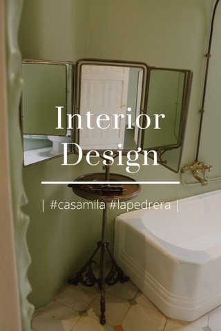 Interior Design | #casamila #lapedrera |