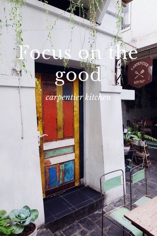 Focus on the good carpentier kitchen