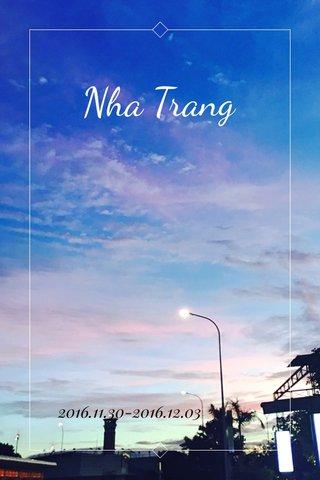 Nha Trang 2016.11.30-2016.12.03