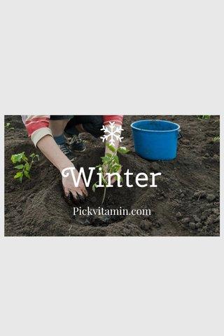 Winter Pickvitamin.com