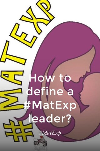 How to define a #MatExp leader? #MatExp