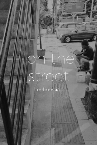 on the street indonesia