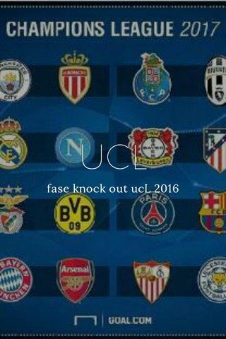 UCL fase knock out ucL 2016