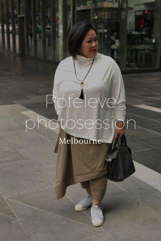 Pofeleve photosession Melbourne