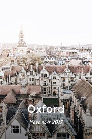Oxford November 2017