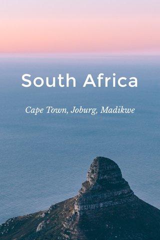 South Africa Cape Town, Joburg, Madikwe