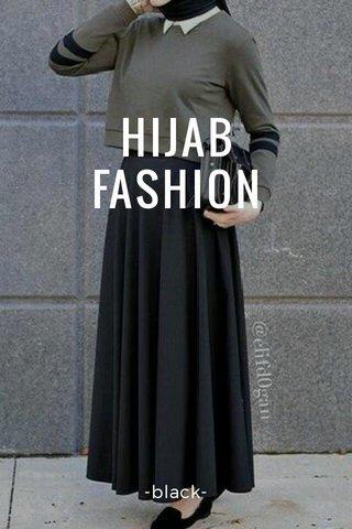 HIJAB FASHION -black-