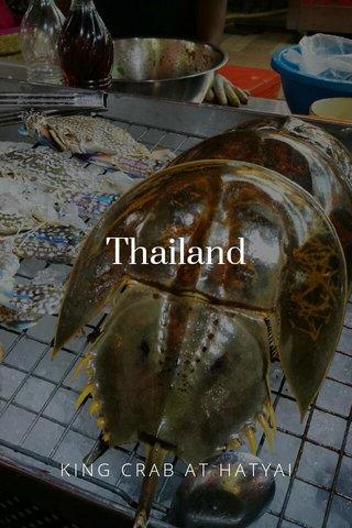 Thailand KING CRAB AT HATYAI