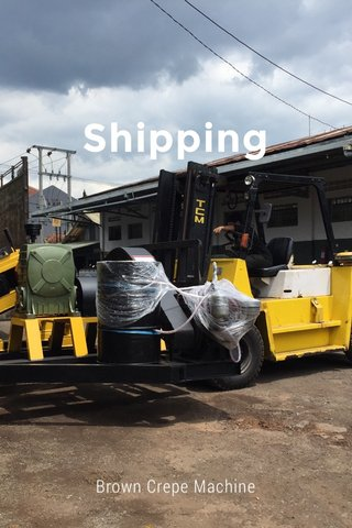 Shipping Brown Crepe Machine