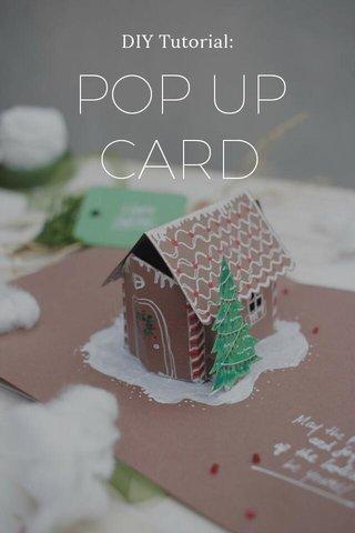 POP UP CARD DIY Tutorial: