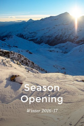 Season Opening Winter 2016-17
