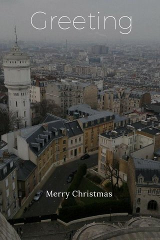 Greeting Merry Christmas