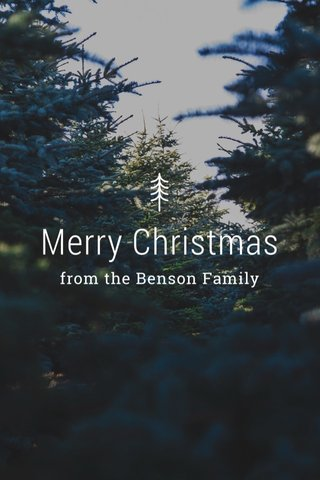 Merry Christmas from the Benson Family