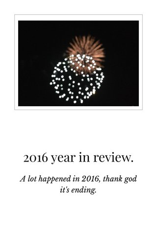 2016 year in review.