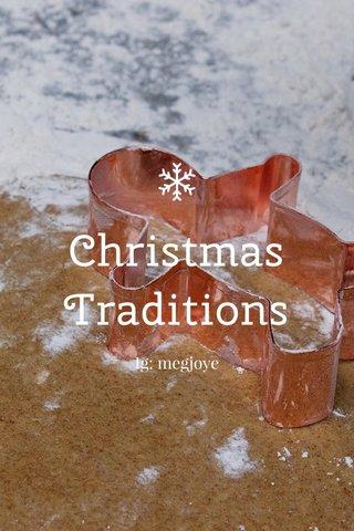 Christmas Traditions Ig: megjoye