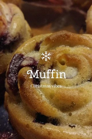 Muffin Christmas vibes