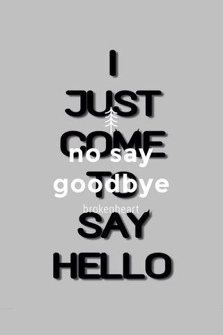 no say goodbye brokenheart