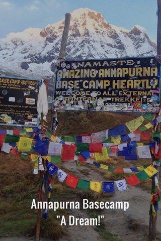 "Annapurna Basecamp ""A Dream!"""