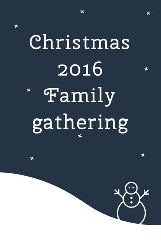 Christmas 2016 Family gathering
