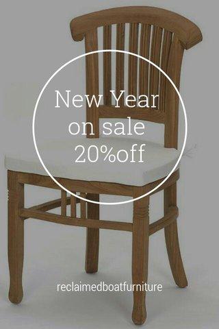 New Year on sale 20%off reclaimedboatfurniture