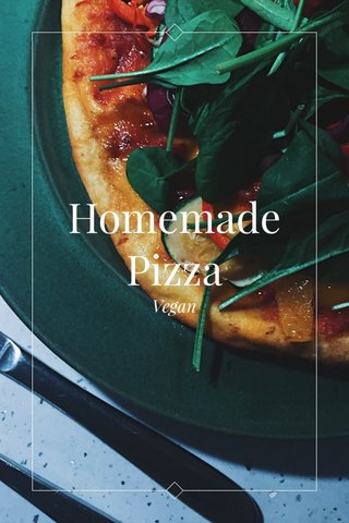 Homemade Pizza Vegan