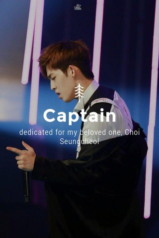 Captain dedicated for my beloved one, Choi Seungcheol