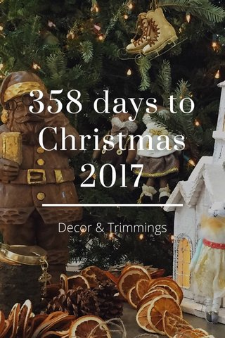 358 days to Christmas 2017 Decor & Trimmings