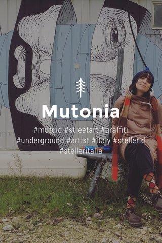 Mutonia #mutoid #streetart #graffiti #underground #artist #italy #stellerid #stelleritalia