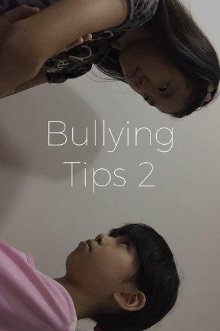 Bullying Tips 2
