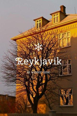 Reykjavik in winter time