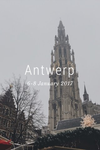 Antwerp 6-8 January 2017