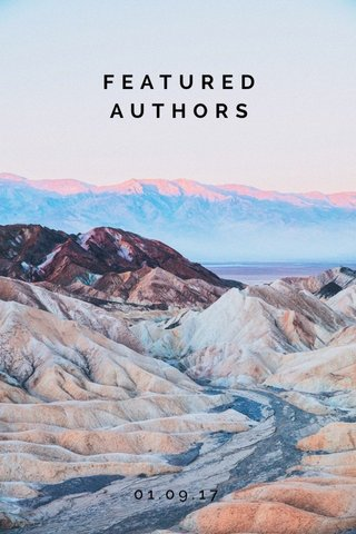 FEATURED AUTHORS 01.09.17