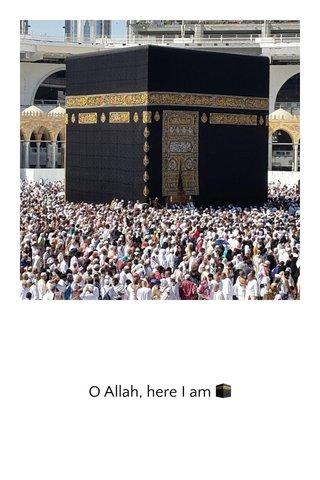 O Allah, here I am 🕋