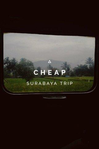 CHEAP SURABAYA TRIP