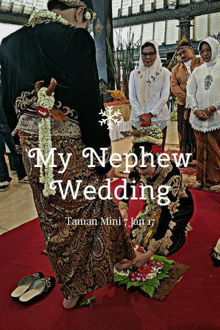 My Nephew Wedding Taman Mini 7 Jan 17