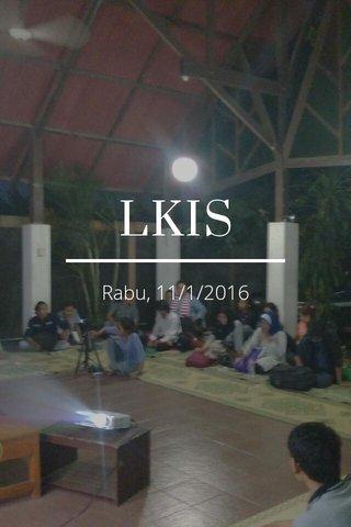 LKIS Rabu, 11/1/2016
