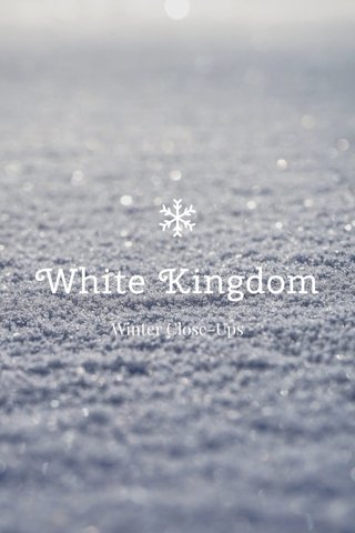 White Kingdom Winter Close-Ups