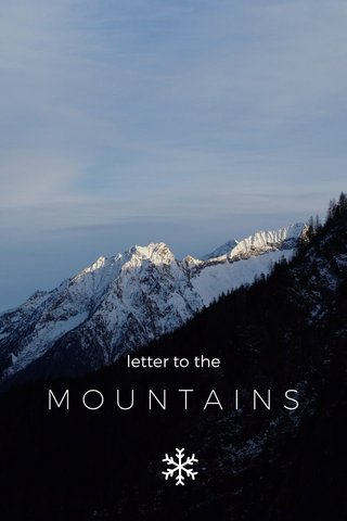 MOUNTAINS letter to the