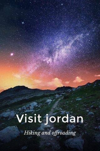 Visit jordan Hiking and offroading