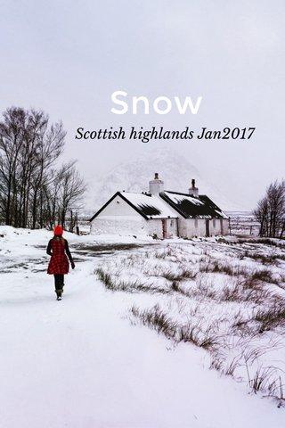Snow Scottish highlands Jan2017